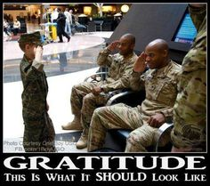 Gratitude. This is what it SHOUL look like. Thank you to our troops and veterans! ✯