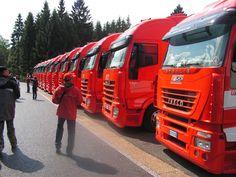 Scuderia Ferrari Iveco trucks
