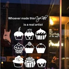 Coffee Cafe Cup Cake Shop Window Stickers Decal Vinyl Business Sign Lettering AU