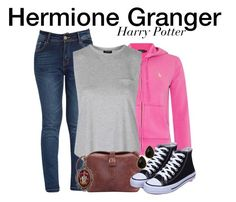 """Hermione Granger - Harry Potter"" by nerd-ville ❤ liked on Polyvore featuring Polo Ralph Lauren, Topshop, Alkemie, Natasha Accessories, women's clothing, women, female, woman, misses and juniors"