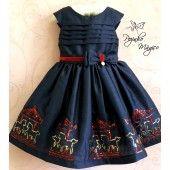Vestido infantil Azul Carrossel  Petit Cherie