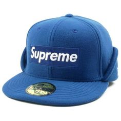 48631a3cd87 SUPREME Polartec 17AW Ear Flap New Era Cap BOX logo New Era Cap BLUE  7  3 8(M)  fashion  clothing  shoes  accessories  mensaccessories  hats  ad  (ebay link)