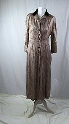 1940's Dusty Rose Paisley Day Dress