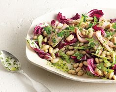 White Bean and Tuna Salad with Radicchio from Chef Seamus Mullen