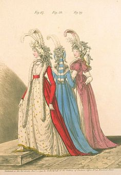 Group of ladies. Heideloff's gallery of fashion, 1795