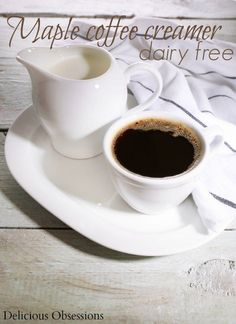 Dairy-Free Maple Coffee Creamer - Delicious Obsessions