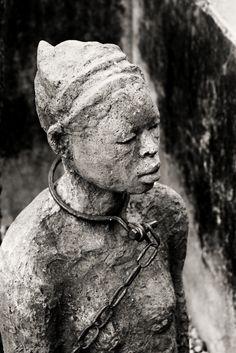 Africa | Slave memorial statue in Stone Town, Zanzibar | ©miss.hudson, via flickr