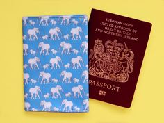Items similar to Blue elephant passport holder - elephant lover gift - animal passport case - unique elephant print fabric - blue travel wallet - travel gift on Etsy Kingdom Of Great Britain, Passport Cover, Elephant Print, Travel Around The World, Mother Day Gifts, Travel Inspiration, How To Draw Hands, Handmade Gifts, Hand Drawn