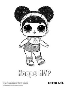 Hoops Mvp Glitter Coloring Page Lotta Lol Coloring Pages Lol Dolls Coloring Books