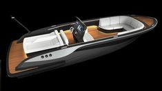 luxury tender yacht design by H. Yacht Design, Boat Design, Rib Boat, Cruiser Boat, Aluminum Boat, Luxury Yachts, Luxury Boats, Power Boats, Built Environment