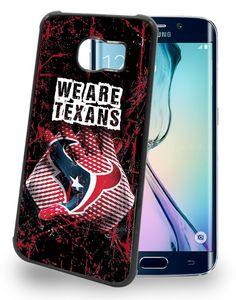 Houston Texans Cell Phone Hard Case for Samsung Galaxy S6, Samsung Galaxy S6 Edge