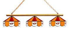 Virginia Tech Hokies Stained Glass 3-Light Game Table Light