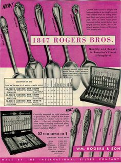 1955 Ad 1847 Rogers Bros Flatware Silverware First Love Daffodil Heritage | eBay