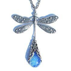 antique dragonfly jewelry Pretty jewel on the bottom.