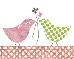 Bird Nursery Art Children's PRINT  16 x 20 Loving by justbunch, $35.00