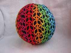"""""""Peace Signs"""" Balloon Ball with Drawstring Pouch by KerrysCrafts, $6.00"""