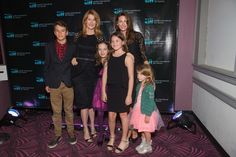 Actress Laura Dern (L), Jill Vedder and children Egyptian Theater on May 16, 2014 in Seattle, Washington.