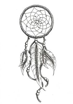 dream catcher tattoo outline