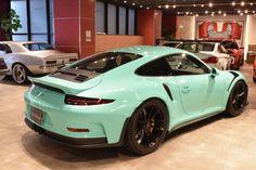 Gorgeous mint green Porsche 911 GT3 RS