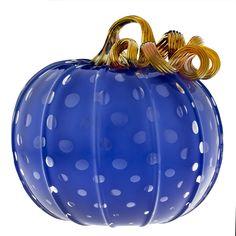 Catherine Ayers: Blue Pumpkin    #cmogshops #glass #pumpkins #decor #fall