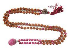 Stone of Love- Pink Jade Rudraksha Yoga Prayer Beads Malas Meditation Necklace Mogul Interior http://www.amazon.com/dp/B00X5ER87Q/ref=cm_sw_r_pi_dp_8hNtvb1XGGAMM