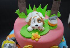 Dog fondant figurine by Torte Sweet Nina