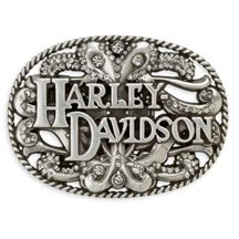 Women's Floral Crystal Buckle | MotorClothes® Merchandise | Harley-Davidson USA