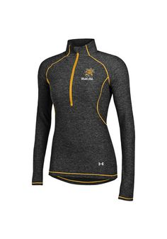 Wichita State Shockers Under Armour 1/4 Zip Pullover - Shockers Womens Black/Gold Twist Tech Long Sleeve Pullover http://www.rallyhouse.com/shop/wichita-state-shockers-under-armour-55290051 $55.00