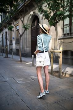 straw hat outfit summer