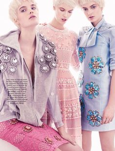 get arty: victoria tuaz, isabel scholten and hanna verhees by alvaro beamud cortes for glamour france march 2014