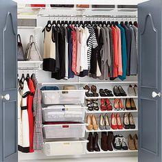 White Elfa Reach In Clothes Closet