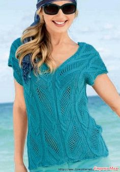 Привет! Красивое оформление горловины может украсить даже самое простое изделие. Я приведу примеры со схемами и видео таких красивых ажурных узоров горловины для пуловеров, связанных спицами.