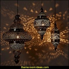 Moroccan Hanging Lamps   Moroccan decorating ideas