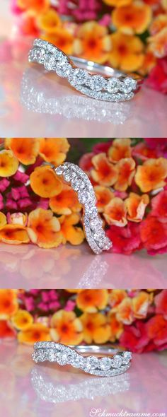 Crossover Diamond Band in Whitegold 18k | Überkreuzter Brillanten Band Ring in Weißgold 750 | Visit: Schmucktraeume.com | Like: https://www.facebook.com/pages/Noble-Juwelen/150871984924926