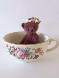 Teddy bear tea cup <3