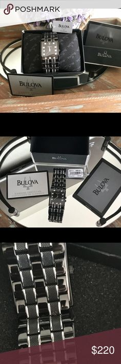 Bulova Watch Beautiful Watch Bulova Men's new condition Bulova Accessories Watches