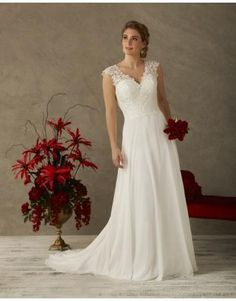 Bonny A-linie Schlichte Modische Brautkleider aus Chiffon mit Applikation