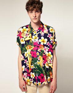 pin-up hawaiian shirt