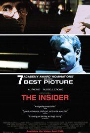 The Insider (1999)  Russell Crowe,  Al Pacino,  Christopher Plummer