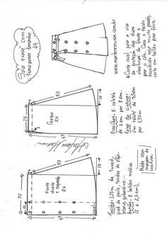 Saia evasê com transpasse Skirt Patterns Sewing, Clothing Patterns, Diy Clothing, Sewing Clothes, Fashion Sewing, Diy Fashion, Simple Dress Pattern, Sewing Lessons, Pattern Cutting
