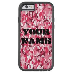 Personalized Pink Camouflage iPhone 6 Tough Case