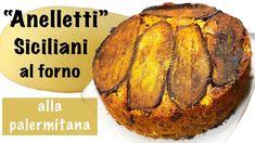 "Anelletti Siciliani al forno ""alla Palermitana"" - Timballo di Pasta - YouTube Baked Potato, Potatoes, Baking, Ethnic Recipes, Youtube, Oven, Potato, Bakken, Backen"