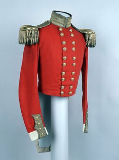 Officer's full dress coatee,belonging to Captain John Lewes, 3rd (The East Kent) Regiment of Foot (The Buffs), 1831-1855 (c)