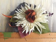 Flower Hairpiece of Ivory Silk Flower with by nickelbugdesigns, $6.75