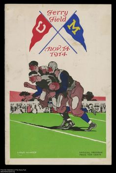 University of Michigan played Cornell in this 1914 game (THF11746).