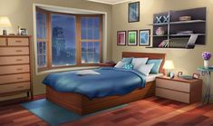 20 Incredibly Helpful Design & Storage Ideas for Your Small Bedroom Apartment bedroom drawing 20 Incredibly Helpful Design & Storage Ideas for Your Small Bedroom Fancy Bedroom, Bedroom Night, Girls Bedroom, Bedroom Decor, Bedroom Red, Room Ideas Bedroom, Episode Interactive Backgrounds, Episode Backgrounds, Anime Scenery Wallpaper