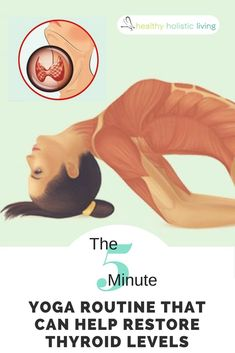 Yoga Moves To Restore Thyroid. The origins of yoga have long been debated, but one thing that all sides agree on is that it developed in ancient India and is not simply just an exercise in physical strength, but is a mental and spiritual discipline. Thyroid Levels, Thyroid Diet, Thyroid Health, Thyroid Issues, Thyroid Disease, Fitness Workouts, Yoga Fitness, Fitness Motivation, Ashtanga Yoga