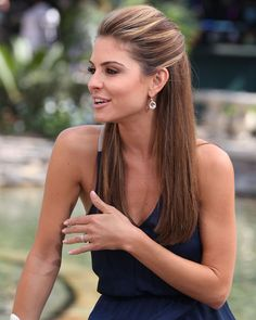 Maria Menounos Hair-Color Subtle Hi-lights around the crown for when I wear my hair up/pulled back.