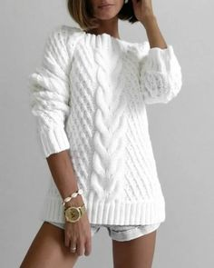 Diy Crafts - Knitt cardigan knitting coat cardigan with braidswarm Knitwear Fashion, Knit Fashion, Sweater Fashion, Casual Sweaters, Sweaters For Women, Knit Sweater Outfit, Cardigan Outfits, Sweater Knitting Patterns, Casual Work Outfits