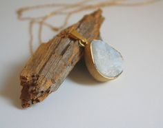 Raw  Moonstone Necklace  Gold filled  One of a by SerenArTjoies
